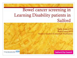 Bowel cancer screening in Learning Disability patients in Salford