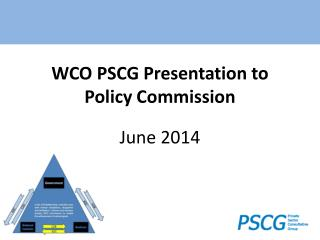 WCO PSCG Presentation to  Policy Commission June 2014