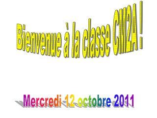 Bienvenue à la classe CM2A !