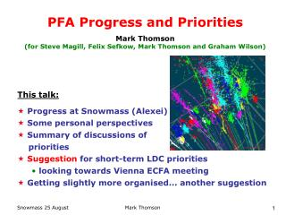 PFA Progress and Priorities