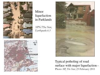 Minor   liquefaction  in Parklands APN/The Star, Earthquake 6.3