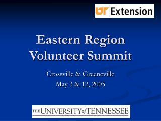 Eastern Region Volunteer Summit