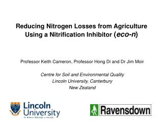 Reducing Nitrogen Losses from Agriculture Using a Nitrification Inhibitor eco-n