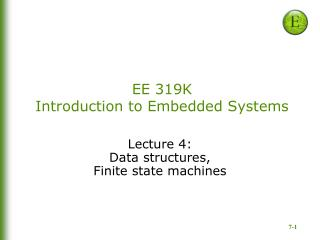EE 319K Introduction to Embedded Systems