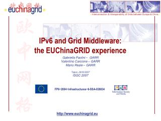 IPv6 and Grid Middleware: the EUChinaGRID experience