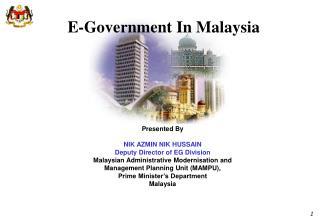 E-Government In Malaysia