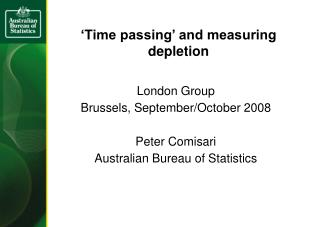 'Time passing' and measuring depletion