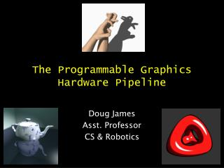The Programmable Graphics Hardware Pipeline