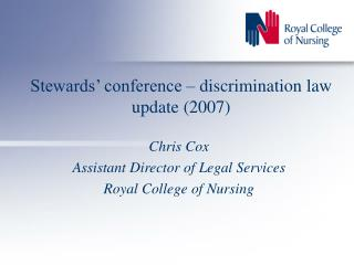 Stewards' conference – discrimination law update (2007)
