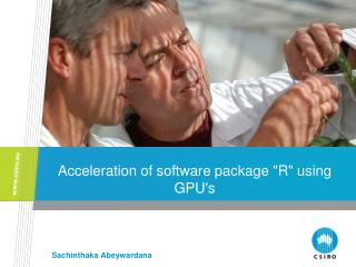 "Acceleration of software package ""R"" using GPU's"