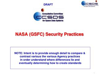 NASA (GSFC) Security Practices