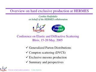 Overview on hard exclusive production at HERMES