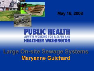 Large On-site Sewage Systems Maryanne  Guichard