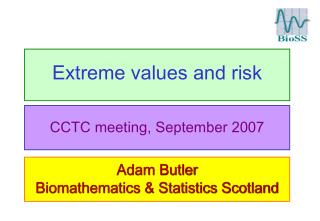 Extreme values and risk