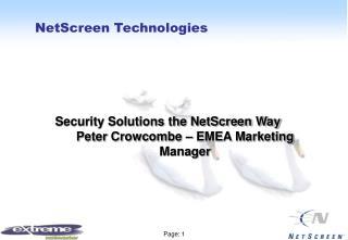 NetScreen Technologies