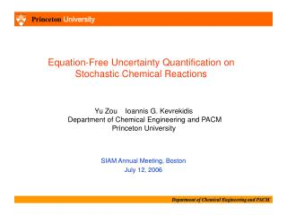 Equation-Free Uncertainty Quantification on  Stochastic Chemical Reactions