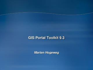 GIS Portal Toolkit 9.3
