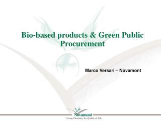 Bio-based  products &  Green Public Procurement