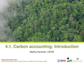 4.1. Carbon accounting: Introduction