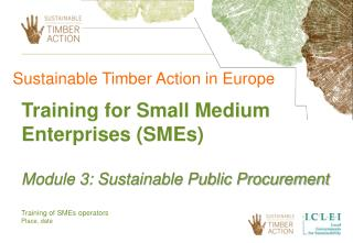 Training of SMEs operators Place, date