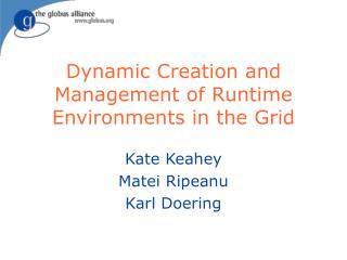Dynamic Creation and Management of Runtime Environments in the Grid