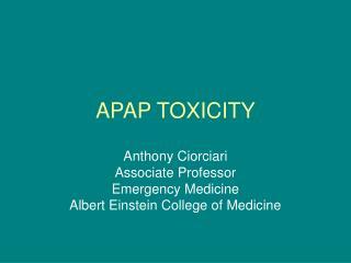 APAP TOXICITY