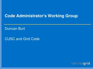 Code Administrator's Working Group