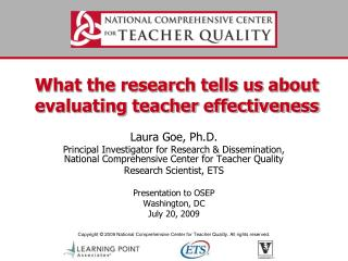 What the research tells us about evaluating teacher effectiveness