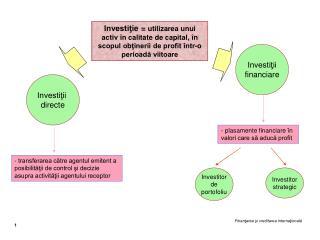 Investiţii  directe