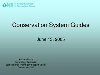Conservation System Guides June 13, 2005