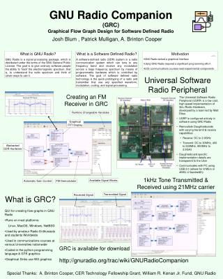 GNU Radio Companion (GRC) Graphical Flow Graph Design for Software Defined Radio