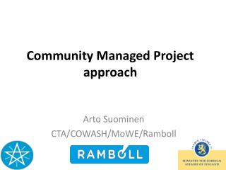 Community Managed Project approach