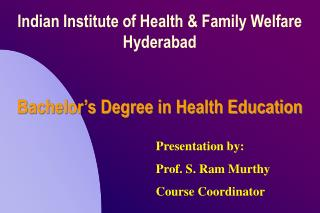 Bachelor's Degree in Health Education