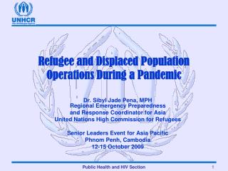Refugee and Displaced Population Operations During a Pandemic