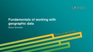 Fundamentals of working with geographic data