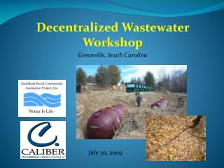 Decentralized Wastewater Workshop Greenville, South Carolina