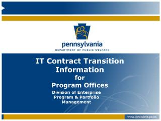 IT Contract Transition Information for Program Offices