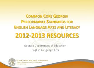 Georgia Department of Education English Language Arts