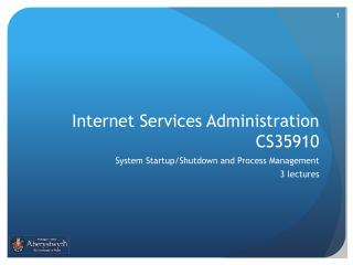Internet Services Administration CS35910