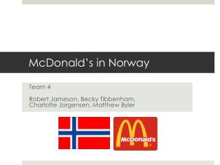 McDonald s in Norway