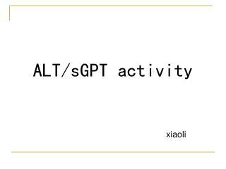ALT/sGPT activity