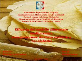 Relatore:       Tesi di:     Prof. ssa Licia Carbini       Giorgia Antoni