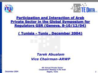 Tarek Abualam Vice Chairman-ARWP