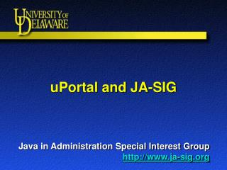 uPortal and JA-SIG