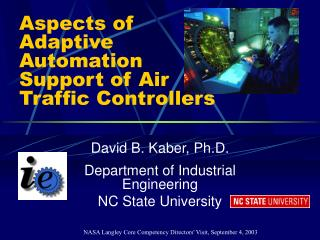 Aspects of Adaptive Automation Support of Air Traffic Controllers