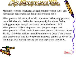 Chip Mikroprosesor 8086