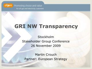 GRI NW Transparency