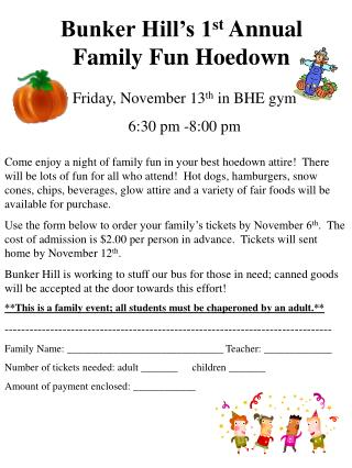 Bunker Hill's 1 st  Annual Family Fun Hoedown