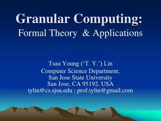 Granular Computing: