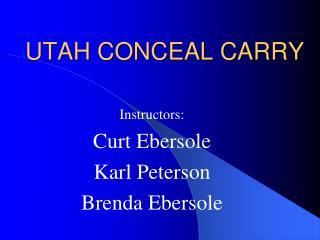 UTAH CONCEAL CARRY